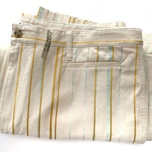 Madewell NWT Striped Cropped Pants